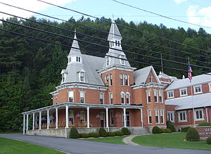 Coudersport Historic District - Image: Isaac Benson House Coudersport Consistory Jun 09