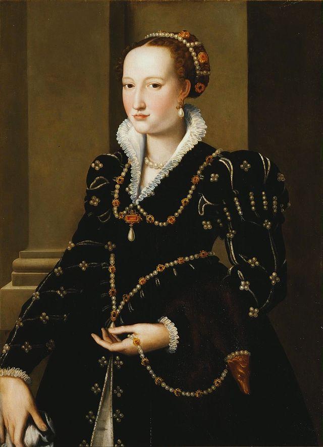 Chaise Cuisine Tissu : Isabelle de Médicis attribué à Alessandro Allori Élisabeth de [R