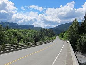 Island Highway - The Island Highway in the Sayward Valley