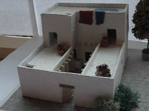 Four room house - A model of a typical Israelite house, the so-called four room house.