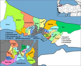 Districts De La Province DIstanbul