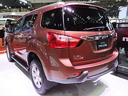 Isuzu mu-X, Rear view at TMS 2013.jpg