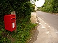 Iwerne Minster, postbox No. DT11 135, Dunns Lane - geograph.org.uk - 1406254.jpg