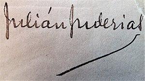 Julián Juderías - Signature of Julian Juderías
