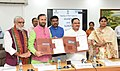 J.P. Nadda, the Union Minister for Human Resource Development, Shri Prakash Javadekar and the Union Minister for Petroleum & Natural Gas and Skill Development & Entrepreneurship.JPG
