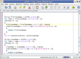 JEdit - Image: J Edit 4.3 Fedora
