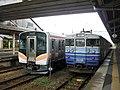 JRE 115 N-36 Kuha 115-1232 at Yoshida Station.jpg