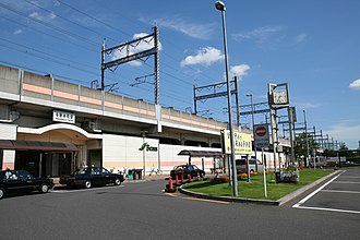 Yonohommachi Station - West entrance of Yonohommachi Station, August 2007
