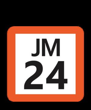Higashi-Urawa Station - Image: JR JM 24 station number