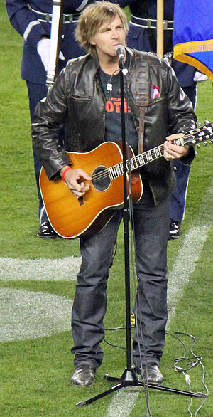 Jack Ingram - Singing the National Anthem in Denver at Sports Authority Field at Mile High on October 28, 2012.