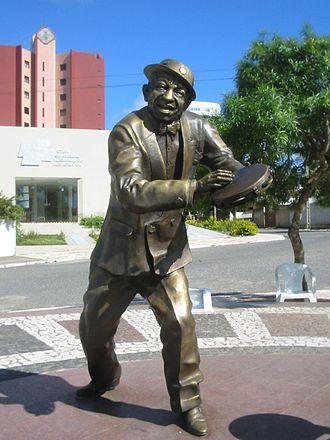 Campina Grande - Statue of Jackson do Pandeiro in Campina Grande.