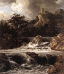Jacob Isaacksz. van Ruisdael - Waterfall with Castle Built on the Rock - WGA20505.jpg