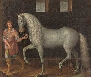 Lusitano - A 1603 painting of a Spanish war horse, an ancestor of the modern Lusitano