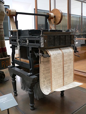 Hattersley loom - Jacquard head with Verdol endless paper card.
