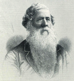 James Cephas Derby - Portrait of J.C. Derby, circa 1884, engraved by G.E. Perine