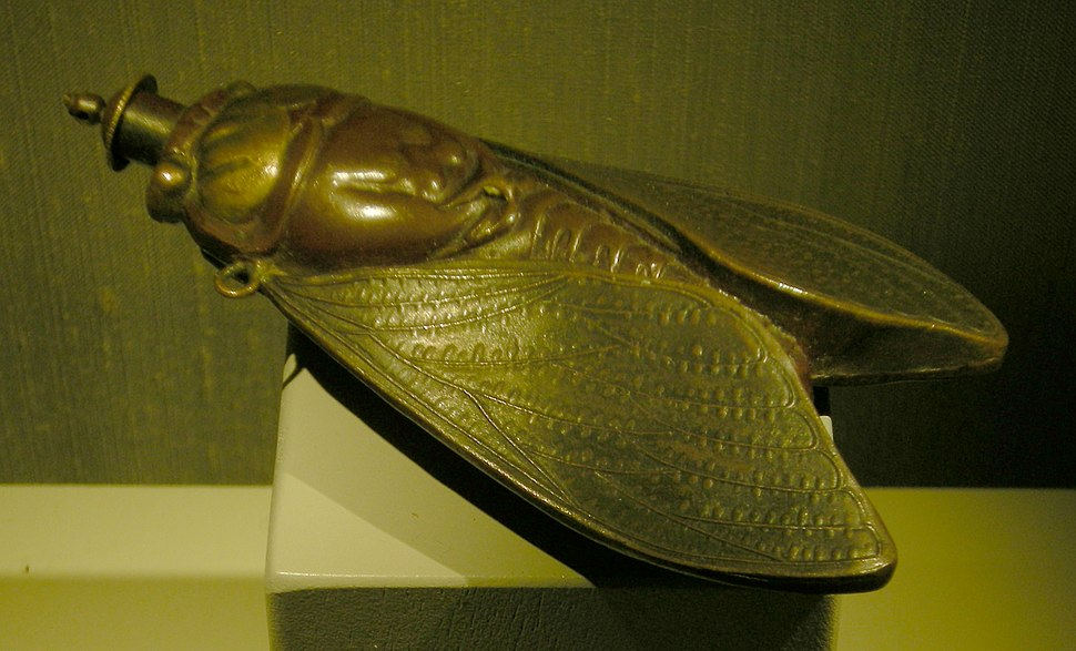 Japanese snuff bottle in the form of a cicada 01A