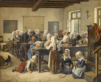 Jean-Baptiste Jules Trayer - Image: Jean Baptiste Jules Trayer Breton infants school 1882