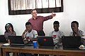 Jean-Michel Kasbarian - Atelier d'écriture - Wikipédia - WLA2019 Bénin 2.jpg