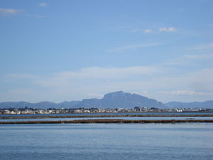 Jebel Ressas as seen from the Lake of Tunis, T...