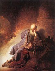 Jeremiah lamenting