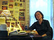 Jessamyn West in her office