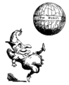 Jester kicking the world (Punch, volume 1, 1841).png