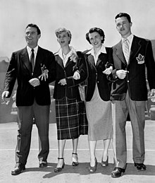 Jim O'Brien, Viola Myers, Nancy Mackay, Art Jackes 1948.jpg