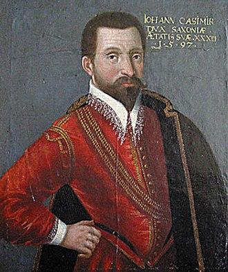 Heldburger Land - Casimir Duke Johann of Saxe-Coburg, 1597, oil on wood, castle Callenberg nearby Coburg