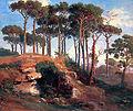 Johann Jakob Frey, Pinien am Nemi-See.jpg