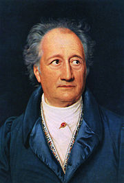 Goethe.  Painting by Josef Stieler, 1828.