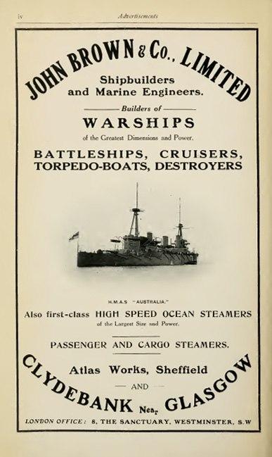 John Brown advertisement Brasseys 1915