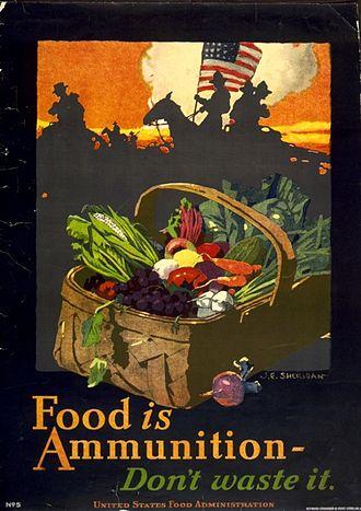 John Emmet Sheridan - Image: John E Sheridan WWI US Food is Ammunition Dont Waste it