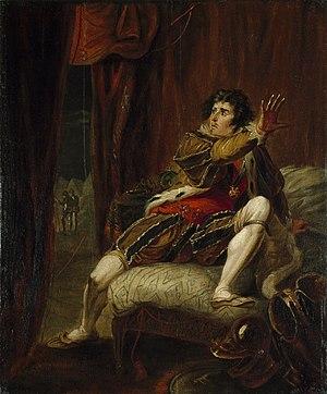 William Hamilton (painter) - Image: John Philip Kemble as Richard III (Hamilton c. 1787)
