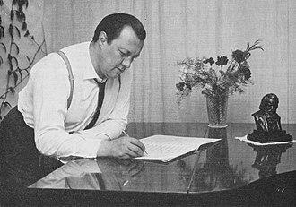 Joonas Kokkonen - Kokkonen working on his First Symphony in 1959.