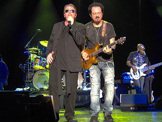 Joseph Williams (musician) - Joseph Williams (left) with Toto in Copenhagen on July 20, 2010