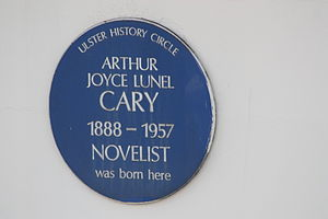 Joyce Cary - Blue plaque in Bank Place, Londonderry, August 2009