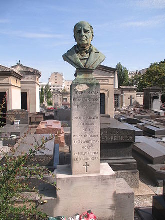 Józef Maria Hoene-Wroński - His grave in the Old Neuilly-sur-Seine community cemetery.
