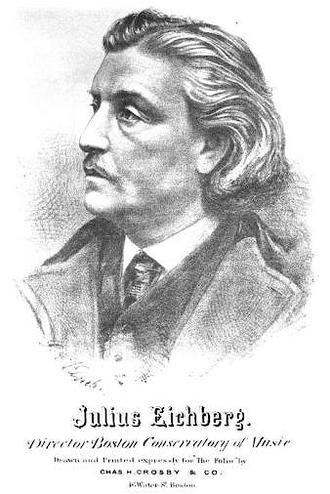 Julius Eichberg - Portrait of Julius Eichberg, by G.A. Klucken
