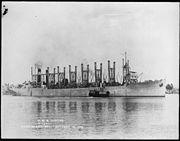 Jupiter. Collier 3. Starboard bow, 10-16-1913 - NARA - 512992