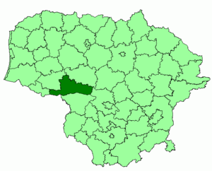 Jurbarkas District Municipality - Image: Jurbarkas district location