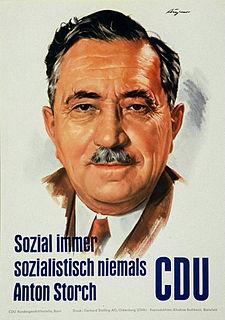 Anton Storch German politician