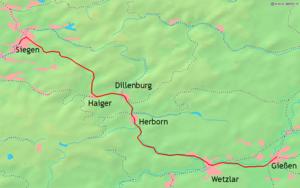Dill Railway - Image: KBS445 Verlauf Dill Strecke