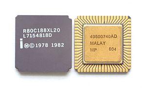 Intel 80188 - An Intel 80188XL microprocessor