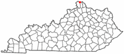 Location of Villa Hills, Kentucky