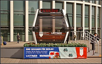 Leitner Ropeways - A Leitner ropeways gondola on display at InnoTrans 2016.
