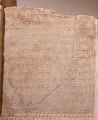 Fragment of an imperial-age consular fasti, Museo Epigrafico, Rome