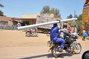 Boda boda - Motorcycle boda boda in Uganda c. 2010