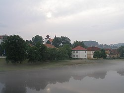 Left bank of the Vltava River in Kamýk