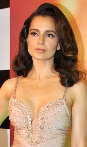Kangana Ranaut - Ranaut at the success party of Queen (2014). She won the Filmfare and National Film Award for Best Actress for the film.