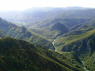 Upper Neretva watercourse in Bosnia and Herzegovina
